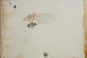 « bzzzzz », 2013, encre et aquarelle sur papier, 25 x 32,5 cm