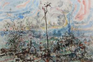 « plantlife », 2013, encre et aquarelle sur papier, 69,5 x 92 cm