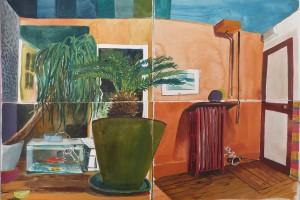 sans titre (atelier), aquarelle sur papier, 46 x 62 cm