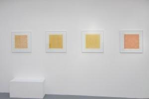 4 « Eloge du Jaune de Naples », 2013, acrylique et crayon sur toile, 50 x 50 cm