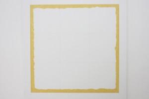 « Éloge du Jaune de Naples », acrylique, crayon et marqueur sur toile, 176 x 176 cm