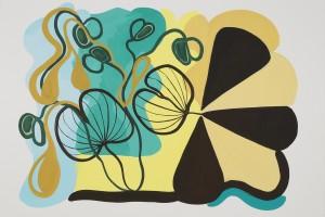 «Feuilles brésiliennes», 2012, gouache sur papier, 56 x 75 cm