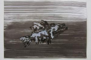 sans titre #20, 2014, technique mixte sur papier, 21 x 29,7 cm