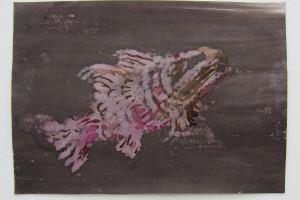 sans titre #27, 2014, technique mixte sur papier, 21 x 29,7 cm