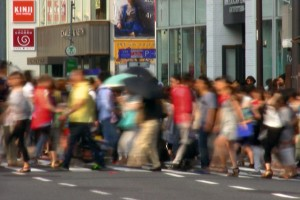« Tokyo Flow » #5, 2013, tirage lamda, 4,5 x 8 cm (cadre 30 x 30 cm)