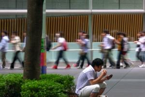 « Tokyo Flow » #15, 2013, tirage lamda, 4,5 x 8 cm (cadre 30 x 30 cm)