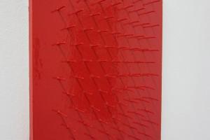 Tableau clous – 2012, laque sur clous sur bois, 35 x 28,5 cm