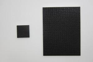 « Peinture à la petite cuillère », 2012, acrylique sur toile, 30 x 30 cm – « Peinture à la petite cuillère », 2012, acrylique sur toile, 115 x 88,5 cm