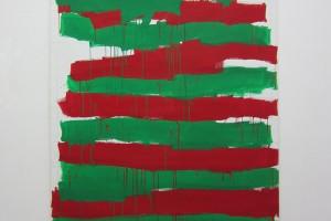 « À la main droite, en regardant en bas », 1988, acrylique sur toile, 210 x 148 cm