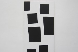 « Scenario », 2014, acrylique sur tissu, 195 x 97 cm