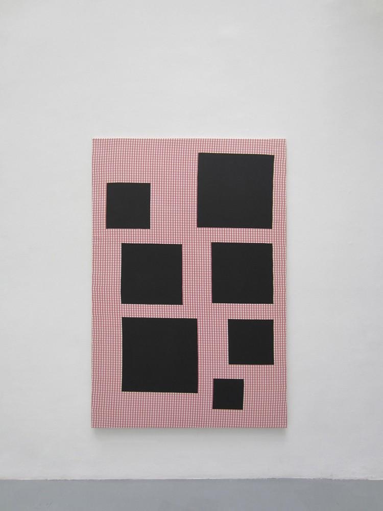 « Scenario », 2014, acrylique sur tissu, 195 x 130 cm