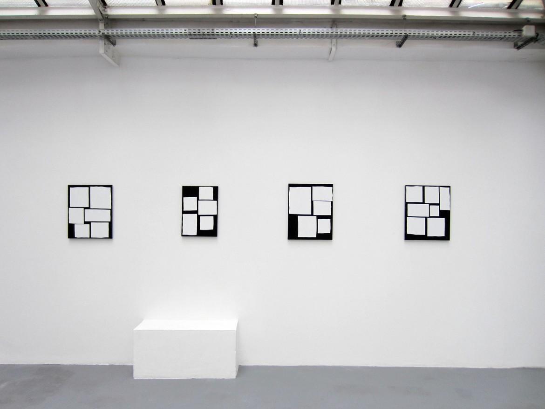 « Scenario », 2014, acrylique sur tissu, 53 x 44 cm / 50 x 35 cm / 55 x 44 cm / 54 x 45 cm