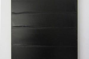 « Noir horizontal », 2014, acrylique sur toile, 70 x 50 cm