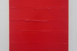 Rouge horizontal – 2014, acrylique sur toile, 55 x 38 cm