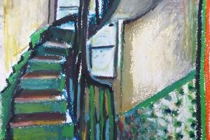 Sans titre (PG 06), 2014, pastel gras sur papier, 32 x 24 cm