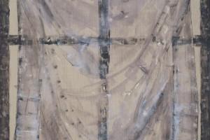 Sans titre, gesso et acrylique sur lin, 172 x 144 cm