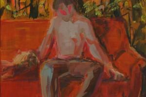 «Divan», 2014, huile sur toile, 35 x 27 cm