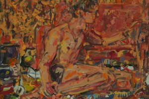 «Kilim, 2014, huile sur toile», 38 x 46 cm