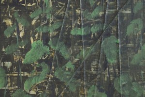 «Les orties », 2014, huile sur toile et cordes, 40 x 30 cm