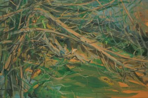 «Lisant Gilberto Freyre», 2014 , huile sur toile, 65 x 100 cm