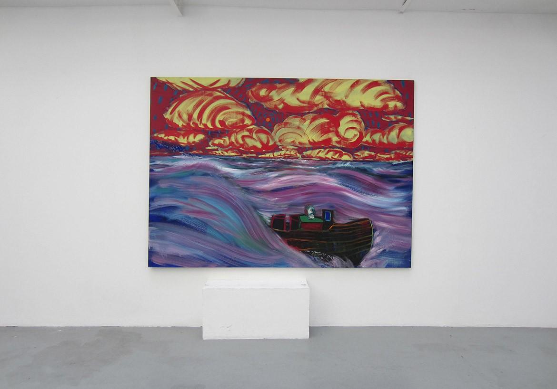 « Styx #1 », 2014, huile sur toile, 180 x 250 cm