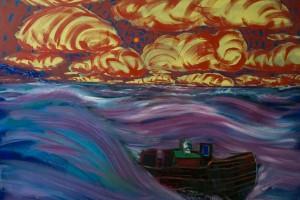 «Styx #1», 2014, huile sur toile, 180 x 250 cm