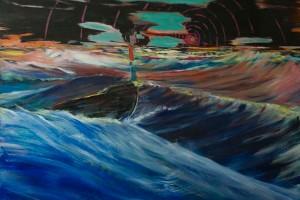 «Styx #3», 2014, huile sur toile, 180 x 250 cm