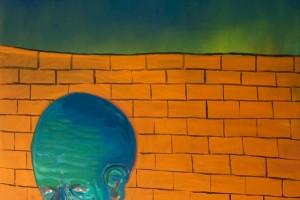 « Calme détermination », 2014, huile sur toile, 205 x 165 cm