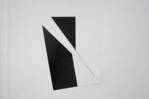 « Broken Ornement #2 », 2013, laque sur aluminium, 184 x 150 x 9 cm