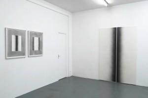 Sans titre (diptyque), 2015 – mine graphite sur papier – 2x 76 x 56 cm / Sans titre (diptyque), 2015 – mine graphite sur papier marouflé sur bois – 220 x 142 cm