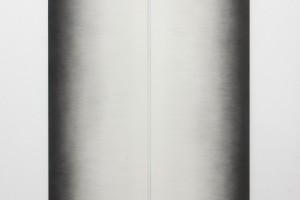 Sans titre (diptyque), 2015 – mine graphite sur papier marouflé sur bois – 220 x 142 cm