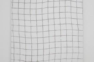 Grille blanche, 2015, acrylique sur tissu, 60 x 60 cm