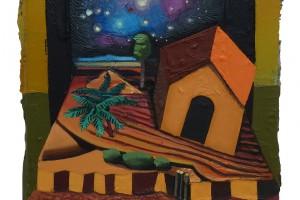 Cosmic Hut, 2015 – huile sur toile, 40 x 30 cm I Collection privée