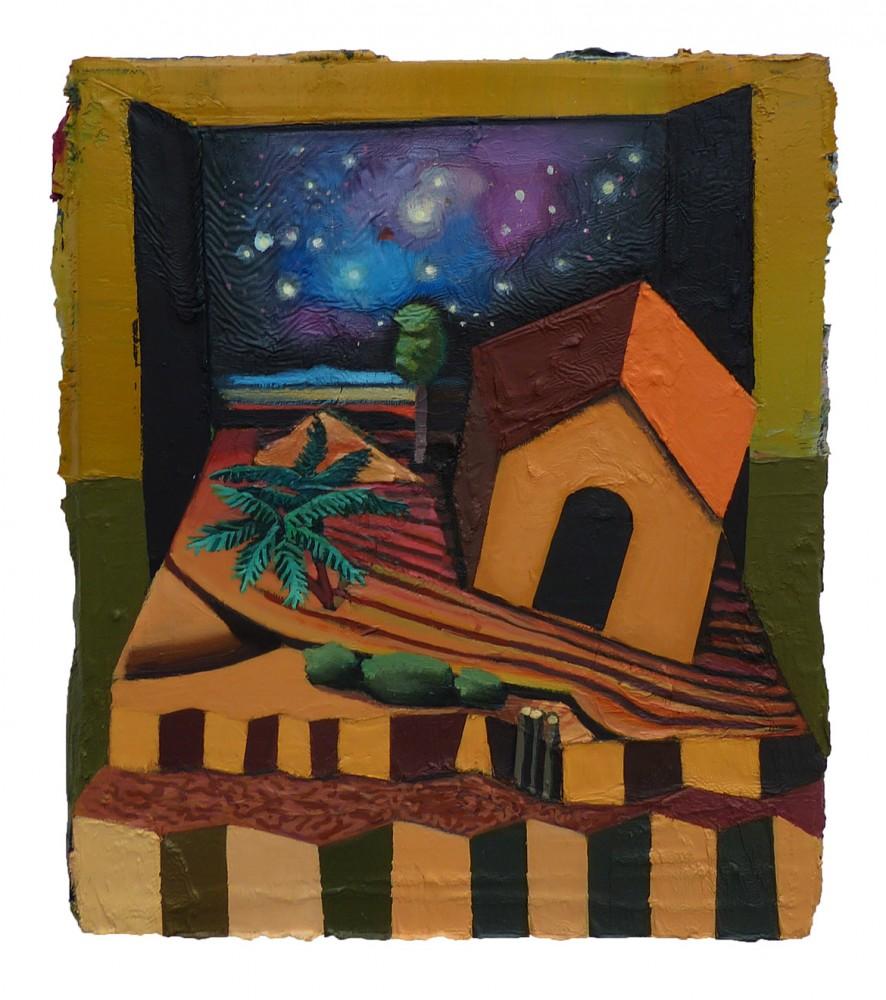 Cosmic Hut, 2015 – huile sur toile, 40 x 30 cm