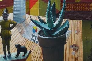 Trick Dog, 2015 – huile sur toile, 70 x 50 cm