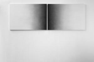 Sans titre (dyptique), 2015, mine de graphite sur papier, 70 x 202 cm