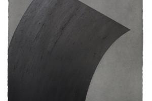 Sans titre, 2015, mine de graphite et poudre de graphite sur papier, 76 x 56 cm