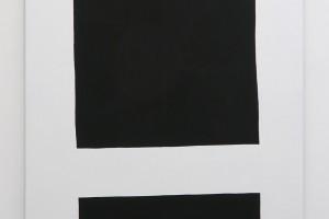 Carré noir (souligné), 2015, acrylique sur tissu, 160 x 115 cm