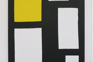 Position (jaune), 2015, acrylique sur tissu, 146 x 114 cm