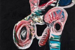 « madame », 2009-10, huile sur toile, 215 x 125 cm