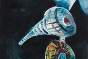 « monsieur », 2009-10, huile sur toile, 215 x 125 cm