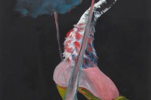 « salammbô schreber (D) », 2011, huile sur toile, 100 x 81 cm