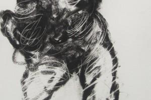 Sans titre, 1991, gouache et fusain sur papier, 108 x 75,5 cm