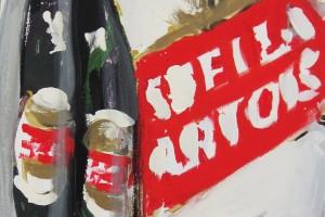 «6 Pack (Stella Artois)», 2005, huile sur toile, 70 x 50 cm
