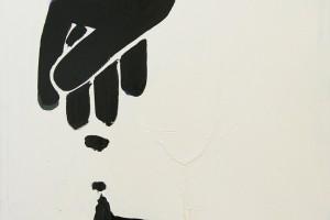«Pictogramm», 2013, huile sur toile, 90 x 90 cm