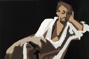 «RIP (Delacroix, Le Tasse)», 2009-10, huile sur toile, 300 x 200 cm