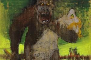 «RIP (Destroy the Mad Brute)», 2012-13, acrylique et enamel sur toile, 230 x 155 cm