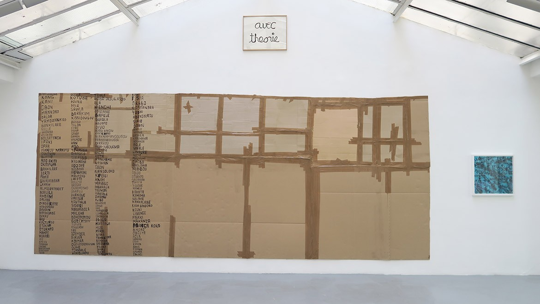 Thomas Hirschhorn, Carte du monde, 1999 – Ben, Avec théorie, 1987 – David Tremlett, The History of my Travel, 2010