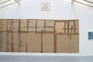 Thomas Hirschhorn, Carte du monde, 1999 – Ben, Avec théorie, 1987 – David Tremlett, The History of my Travel, 2010