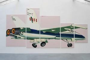 Tatjana Doll – Speed Nasa Jet, 2008, huile sur toile – 5 parties : 300 x 600 cm